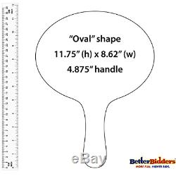 101-200, 2mm Cartonplast, Better Bidders Oval Shape Auction Paddle Set, 1-Piece