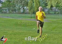 12 Speed Agility Training Mini Hurdles with Carry Strap