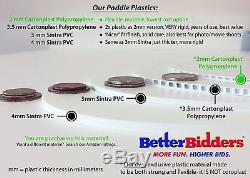 1-40, 2mm Cartonplast, Better Bidders Oval shape Auction Paddle Set, 1-piece