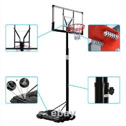 2.45m-3.05m Removable Adult PC Transparent Backboard Basketball Stand