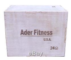 Ader 3-in-1 Wood Plyometric Box (20x24x30)