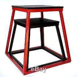 Ader Cross Train Fitness Plyometric Box Set- 18 Black, 24 Red
