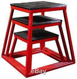 Ader Fitness Red Plyometric Box Set- 12,18 & 24