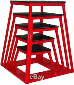 Ader Plyometric Platform Box Set- 12, 18, 24, 30, 36 Red