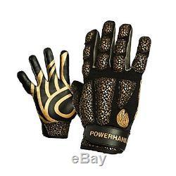 Anti Grip Weighted Gloves POWERHANDZ Basketball Training Sport Batting Hog Large