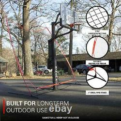 Basketball 12x13 Return Net Guard and Backstop, Hoop Rebound Back Netting Attach