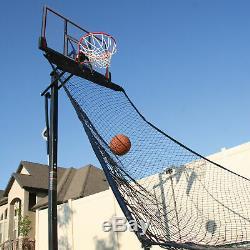 Basketball Ball Return Net Practice Aid Catcher and Rebounder Durable Nylon Blk