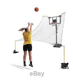 Basketball Ball Return Trainer System SKLZ Rapid Fire 2 Net Backboard Pole Mount