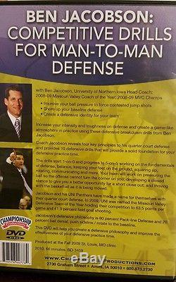 Basketball Coaching DVD Ben Jacobson Competitive Drills for Man-to-Man Defense