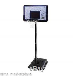 Basketball Hoop Adjustable Portable Training Outdoor Play 44 Impact Backboard