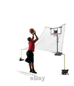 Basketball Hoop Net Ball Return Home Training Practice Shooting Drills Backboard