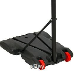 Basketball Hoop Stand Portable Height-Adjustable 28 Backboard With Wheels
