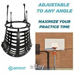 Basketball Return Attachment Outdoor Shooting Trainer Rebounder Black Sports