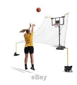 Basketball Return System Net Ball Rebounder Shooting Practice Pole Mount Train
