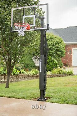 Basketball Yard Guard Defensive Net Rebounder With Foldable Net, Black