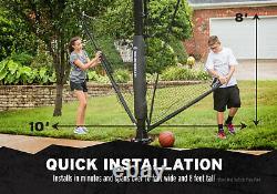 Basketball Yard Guard Defensive Net System Rebounder Foldable Net Ball Return