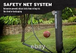 Basketball Yard Guard Defensive Net System Rebounder with Foldable White/Black