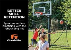 Basketball Yard Guard Easy Fold Defensive Net System Quickly Installs on Any 1