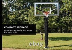 Basketball Yard Guard Easy Fold Defensive Net System Quickly Installs on Any B