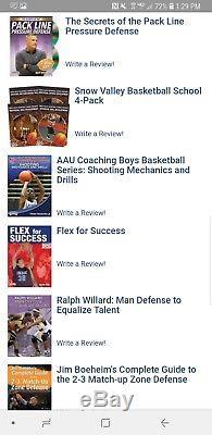 Basketball coaching dvds lot