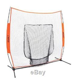 Bownet 7' x 7' Big Mouth X Most Reliable Portable Sock Net for Pitching & Hittin