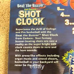 Cadaco Beat the Buzzer Electronic Basketball Shot Clock LED display with mount