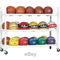 Champion Sports Heavy Duty 30-Ball Cart with Casters