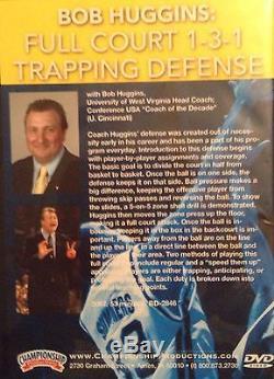 Coaching Basketball DVD Bob Huggins Full Court 1-3-1 Trapping Defense