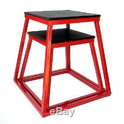 Cross train fitness Plyometric Box Set- 18, 24 Red