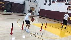 D-CONE 3 in 1 Defender (Basketball Training Cones) by Ball Hog Gloves 2 in set