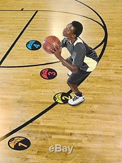 Durable Rubber Basketball Training Equipment Shot Spotz Marker Learning Coaching