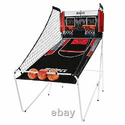 ESPN 2 Player Hoop Basketball Arcade Game with Scoreboard & Balls (Open Box)