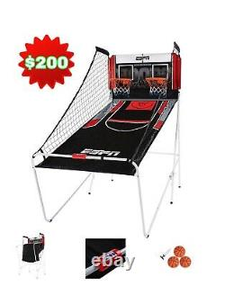 ESPN Indoor 2 Player Hoop Shooting Basketball Arcade Game with Scoreboard & Balls