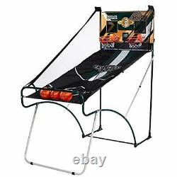 Foldable Indoor Basketball Arcade Game Double Electronic Dual Hoop Shot 2 Player