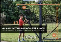Goalrilla Basketball Yard Guard Easy Fold Defensive Net System BRAND NEW