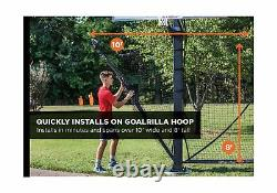 Goalrilla Basketball Yard Guard Easy Fold Defensive Net System Quickly Instal