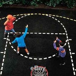 Heavy Duty Paper Basketball Court Stencil with Paint Roller ID 21539