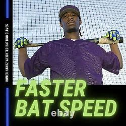 Homer Handz Adjustable Weighted Baseball Batting Training Gloves Medium