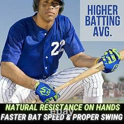 Homer Handz Adjustable Weighted Baseball Batting Training Gloves Small