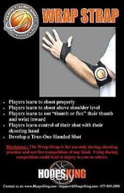 HoopsKing Wrap Strap Basketball Shooting Aid Stop Thumbing the Basketball