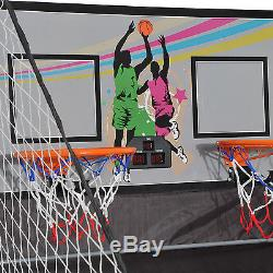 Indoor Basketball Arcade Game Double Electronic Shot Hoop 2 Player Fold with4 Ball