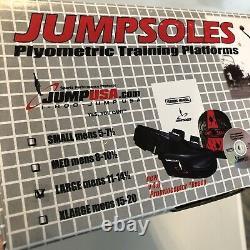 JumpSoles V4.0 Plyometric Training Platforms Jump Speed System Men L 11-14.5 NEW