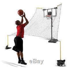 Kids Basketball Return SKLZ Rapid Make Miss Ball Return Fire II 180-Degree Court