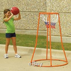 Kids Basketball Shooting Training 4' Ball Shot Goal 360 Degree 18 Hoop Net NEW