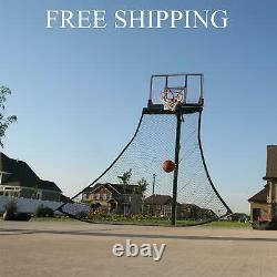 Lifetime Ball Return Net, 12347 Black Basketball Training Aid Rebound Roll Back