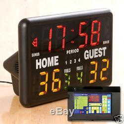 MacGregor Multisport Indoor Portable Scoreboard with Remote Control NEW