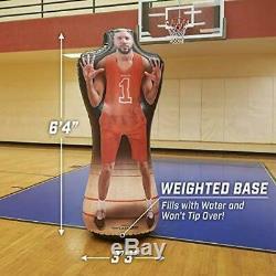Maniqui inflabe jugador baloncesto entrenamiento ofensivo basketball dribrar