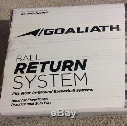 NIB GOALIATH Universal Basketball Return Net System For In Ground Hoops