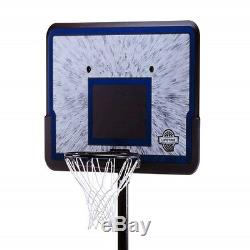 Outdoor Portable Basketball Pro Court Adjustable Hoop Height System 44 Backboard