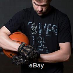 POWERHANDZ Weighted Anti Grip Basketball Gloves